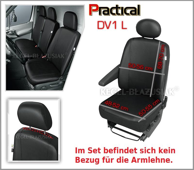 Sitzbezüge Schonbezüge Sitzbezug Kunstleder für Mercedes Vito Practical DV1 L