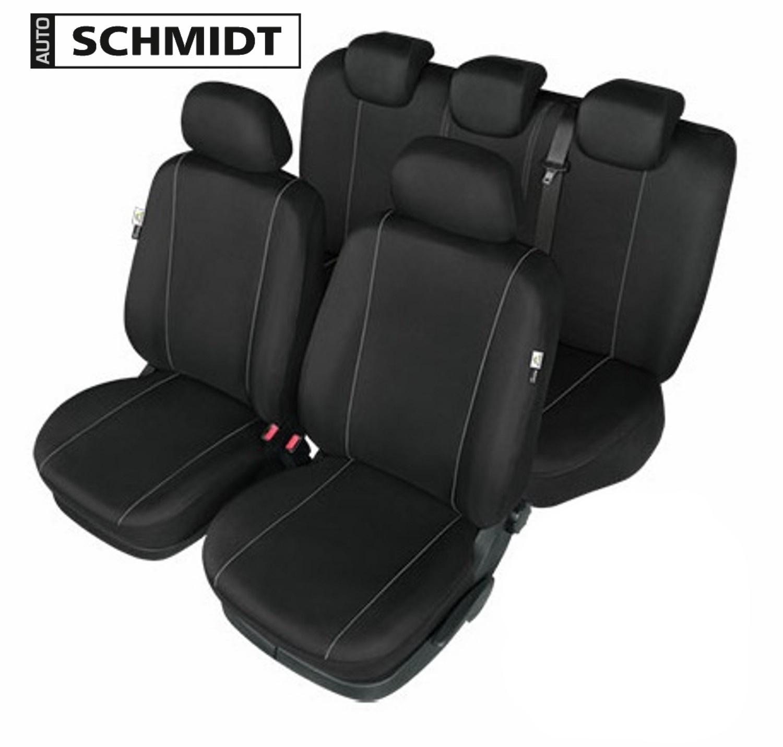 Schwarzer SET Sitzbezüge für MERCEDES E-KLASSE W211 SCHMIDT XL LXL